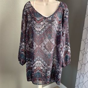 Flowy paisley top